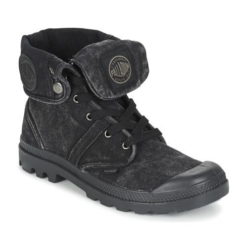 Los últimos zapatos de descuento para hombres y mujeres Zapatos especiales Palladium US BAGGY Negro