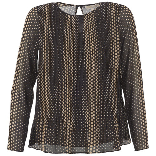 textil Mujer Tops / Blusas MICHAEL Michael Kors OMBOBO Negro / Beige