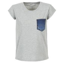 textil Mujer camisetas manga corta Mustang SLV DENIM POCKET Gris