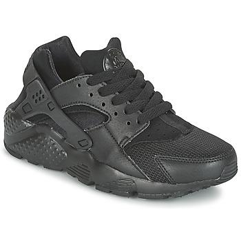 Zapatos Niño Zapatillas bajas Nike HUARACHE RUN JUNIOR Negro