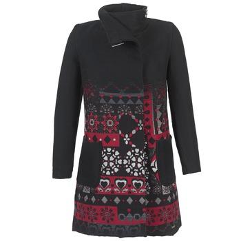 textil Mujer Abrigos Desigual JEFINITE Negro / Rojo