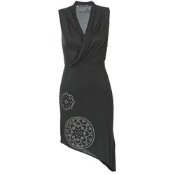 textil Mujer vestidos cortos Desigual RAZIANA Negro