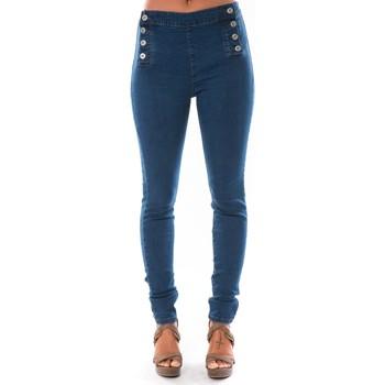 textil Mujer Vaqueros slim Dress Code Jean Demin Avenue  15HP006-2 Azul