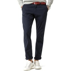 textil Hombre pantalones con 5 bolsillos Tommy Hilfiger DENTON CHINO ORG STR TWILL Azul
