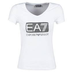 textil Mujer camisetas manga corta Emporio Armani EA7 FOUNAROLA Blanco