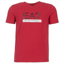 textil Hombre camisetas manga corta Emporio Armani EA7 MOFRAGO Rojo
