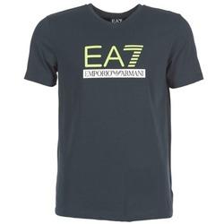 textil Hombre camisetas manga corta Emporio Armani EA7 JANTLOA Marino