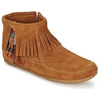 Zapatos Mujer Botas de caña baja Minnetonka CONCHO FEATHER SIDE ZIP BOOT Marrón