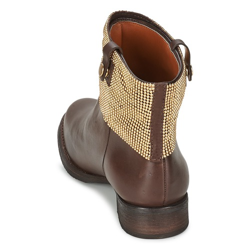 Waipohi Mujer Zapatos Botas Caña Marrón Schutz De Baja BdWCoerx