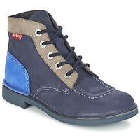 Zapatos Mujer Botas de caña baja Kickers KICK COL Marino