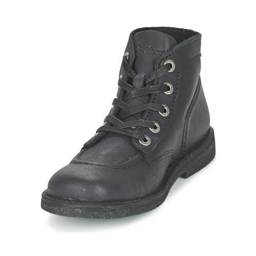 Mujer Botas Kickers Negro De Caña Zapatos Legendiknew Baja 0yvNm8nOw