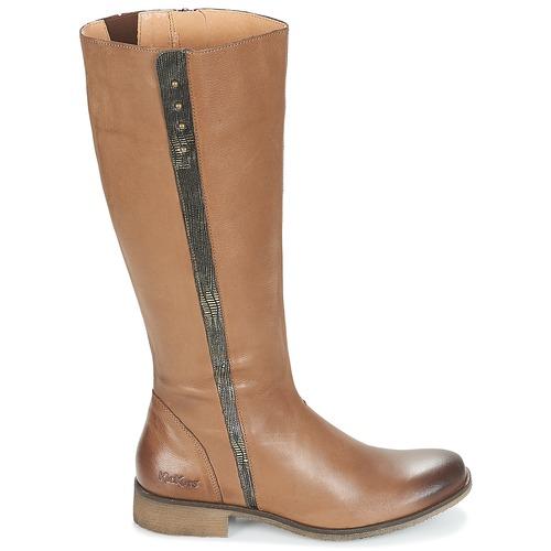 MarrónOro Urbanas Kickers Mujer Zapatos Botas Longbotte 76gbfyIYv