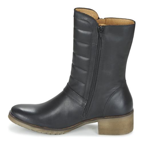 Kickers Zapatos Baja Mujer Botas Negro De Millier Caña TZuOkiPX