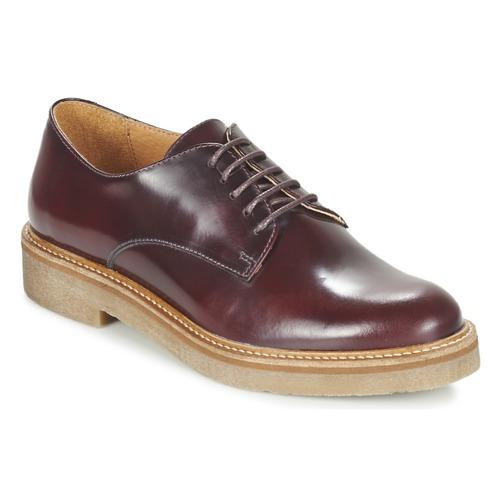 Casual salvaje Zapatos especiales Kickers OXFORK Burdeo