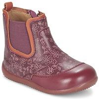 Zapatos Niña Botas de caña baja Kickers BIGOR Burdeo / Naranja