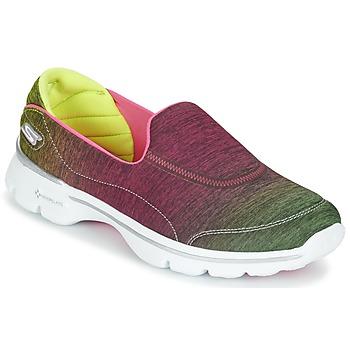 Zapatos Mujer Zapatillas bajas Skechers GO WALK 3 AURA Pink / Amarillo