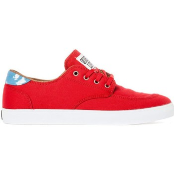 Zapatos Hombre Zapatos de skate Lakai BELMONT red canvas collab quiet life Rouge