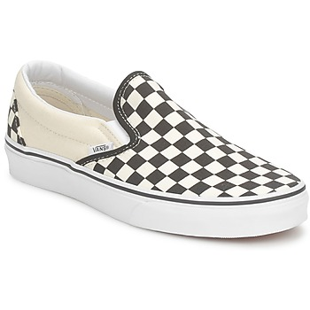 Zapatos Slip on Vans CLASSIC SLIP ON Negro / Blanco