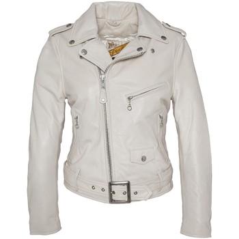 textil Mujer Chaquetas de cuero / Polipiel Schott PERFECTO FEMME  Blanc LCW 8600 Blanco