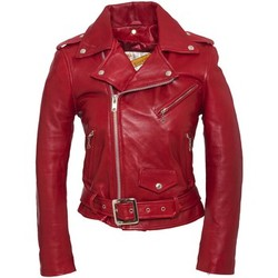 textil Mujer Chaquetas de cuero / Polipiel Schott PERFECTO FEMME  lcw 8600 Rouge Rojo