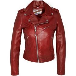 textil Mujer Chaquetas de cuero / Polipiel Schott VESTE PERFECTO LCW1601D  SANS CEINTURE  Rouge Rojo