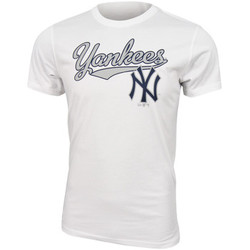 textil Hombre camisetas manga corta New Era MLB New York Yankees Script tee Blanco