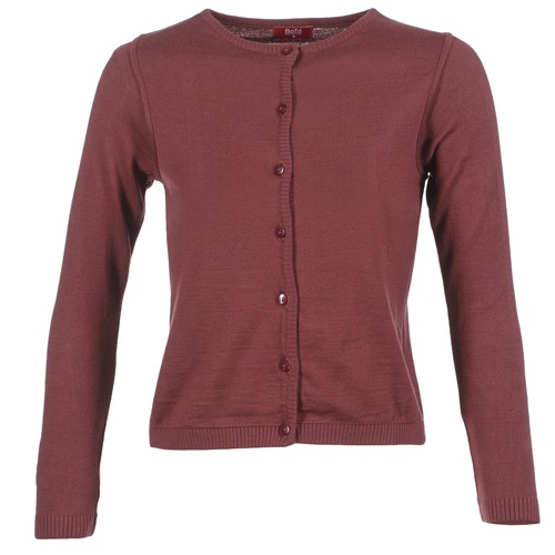 BOTD EVANITOA Burdeo - Envío gratis | ! - textil Chaquetas de punto Mujer