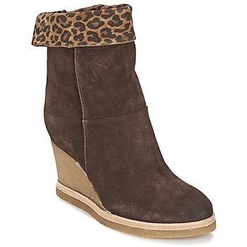 Zapatos Mujer Botines Vic VANCOVER GUEPARDO Marrón / Leopardo