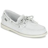 Zapatos Hombre Mocasín Sebago DOCKSIDES Blanco
