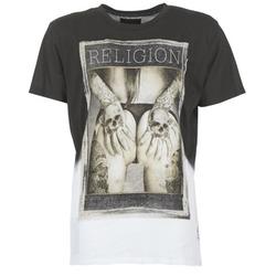 textil Hombre camisetas manga corta Religion GRABBING Blanco / Negro