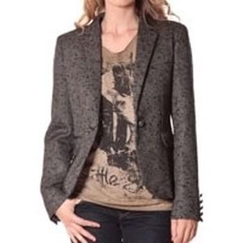 textil Mujer Chaqueta de traje Rich & Royal Rich&Royal Blazer OVER Chiné Noir 13q801/999 Negro