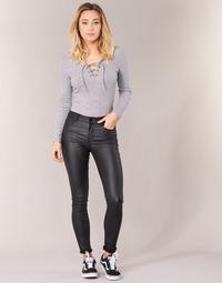 textil Mujer pantalones con 5 bolsillos Vila VICOMMIT Negro