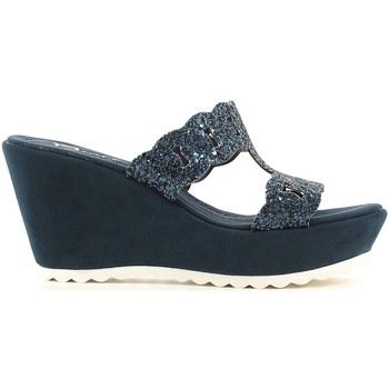 Zapatos Mujer Zuecos (Mules) Grace Shoes 80GLITT Wedge sandals Mujeres Blue