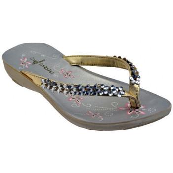 Zapatos Mujer Chanclas Inblu  Oro