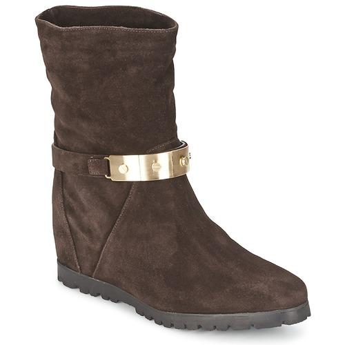 Descuento de la marca Alberto Gozzi VELOUR PEPE Marrón - Envío gratis Nueva promoción - Zapatos Botines Mujer  Marrón