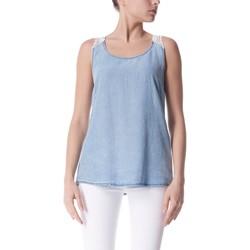 textil Mujer camisetas sin mangas Gas Top Lauryn Azul