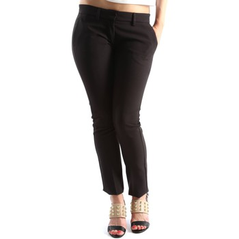 textil Mujer pantalones con 5 bolsillos Denny Rose 63DR12016 Trousers Mujeres Black