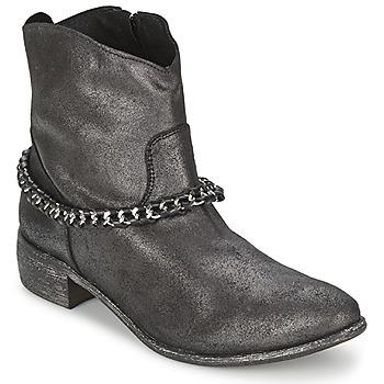 Zapatos Mujer Botas de caña baja Meline VUTIO Negro / Metalizado