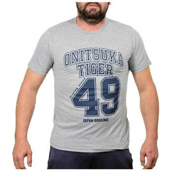 textil Hombre Camisetas manga corta Onitsuka Tiger  Gris