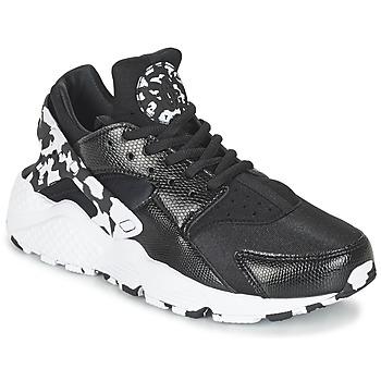 Zapatos Mujer Zapatillas bajas Nike AIR HUARACHE RUN SE W Negro / Blanco