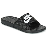 Zapatos Mujer Chanclas Nike BENASSI JUST DO IT W Negro / Blanco