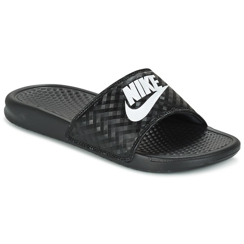 purchase cheap a92b1 dba59 Zapatos Mujer Chanclas Nike BENASSI JUST DO IT W Negro  Blanco