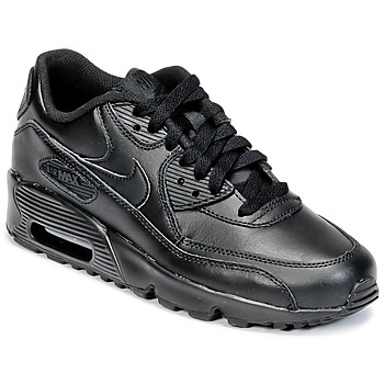 Zapatos Niño Zapatillas bajas Nike AIR MAX 90 LEATHER GRADE SCHOOL Negro
