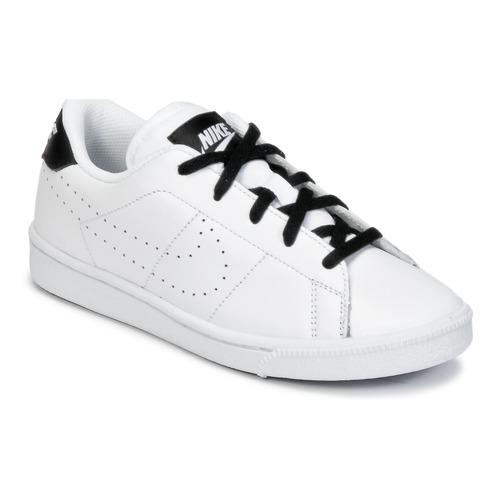 Zapatos Niño Zapatillas bajas Nike TENNIS CLASSIC PREMIUM PRESCHOOL Blanco / Negro