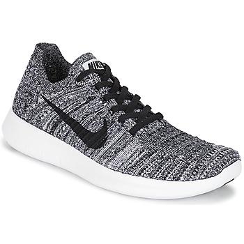 Zapatos Mujer Running / trail Nike FREE RUN FLYKNIT W Blanco / Negro
