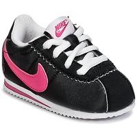 Zapatos Niña Zapatillas bajas Nike CORTEZ NYLON TODDLER Negro / Rosa