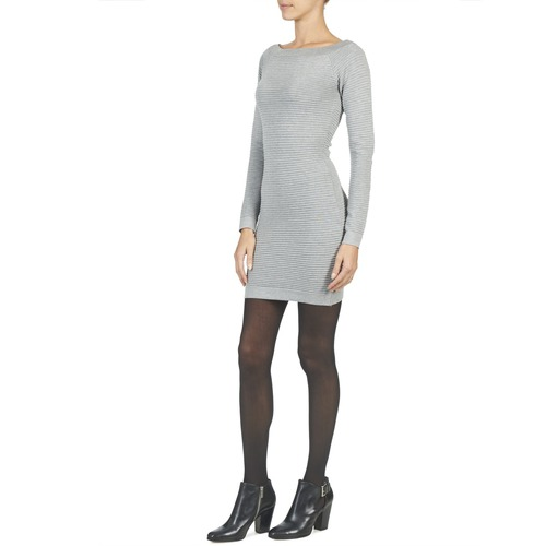 Betty Mujer Vestidos London Cortos Gris Textil Fribelle cjq35RL4A