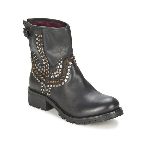 Zapatos Mujer Botas de caña baja Ikks SEATTLE-PREMIUM Negro