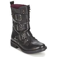 Zapatos Mujer Botas de caña baja Ikks RANGER-COLLECTOR-BOUCLE Negro