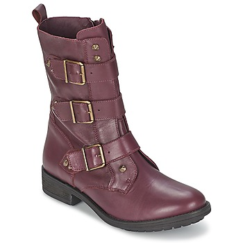 Zapatos Mujer Botas de caña baja Ikks RANGER-COLLECTOR-BOUCLE Burdeo